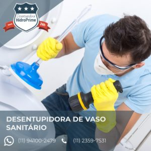 Desentupidora de Vaso Sanitário em Perdizes